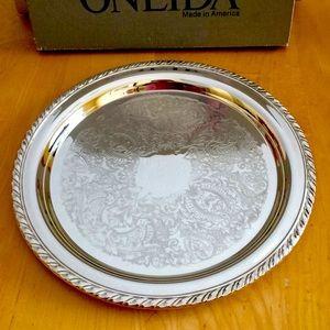 Never Used,Vintage Oneida Silverplated Tray